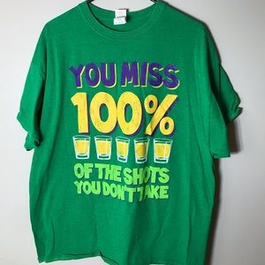 MardiGras Green Party T-shirt. Size XL.
